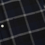 Мужская рубашка Norse Projects Anton Check Navy/Charcoal фото- 2