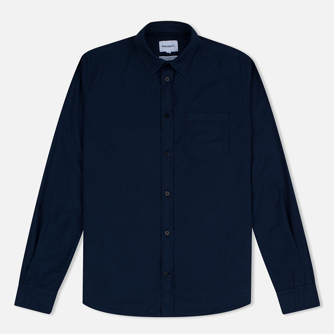Norse Projects Anton Light Oxford LS Men's Shirt Dark Navy