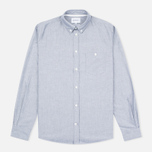 Мужская рубашка Norse Projects Anton Oxford Grey фото- 0