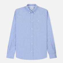 Мужская рубашка Norse Projects Anton Oxford Logo Pale Blue фото- 0