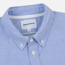 Мужская рубашка Norse Projects Anton Oxford Logo Pale Blue фото- 1