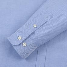 Мужская рубашка Norse Projects Anton Oxford Logo Pale Blue фото- 3