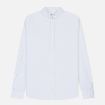 Мужская рубашка Norse Projects Anton Oxford Logo White