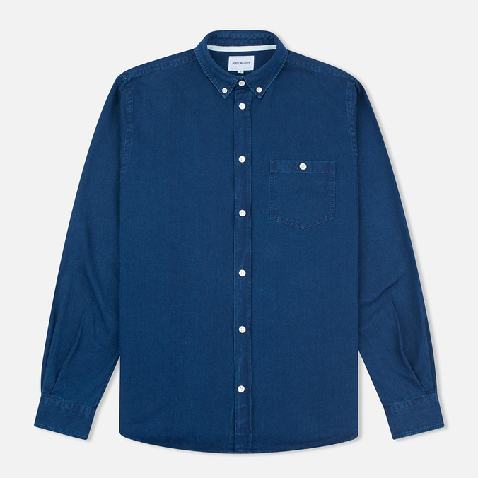 Norse Projects Anton Denim Light Men's Shirt Indigo