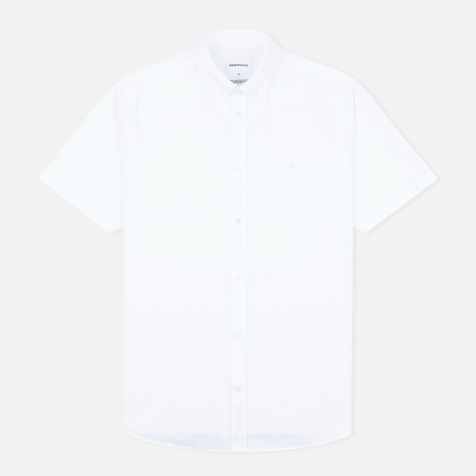 Мужская рубашка Norse Projects Anton Oxford SS White