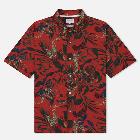 Мужская рубашка Norse Projects Carsten Print Askja Red