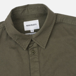Norse Projects Hans Half Placket Twill Men's Shirt Dried Olive photo- 1
