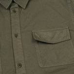 Мужская рубашка Norse Projects Hans Half Placket Twill Dried Olive фото- 2