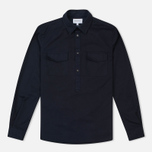 Мужская рубашка Norse Projects Hans Half Placket Twill Navy фото- 0