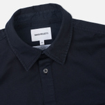 Мужская рубашка Norse Projects Hans Half Placket Twill Navy фото- 1