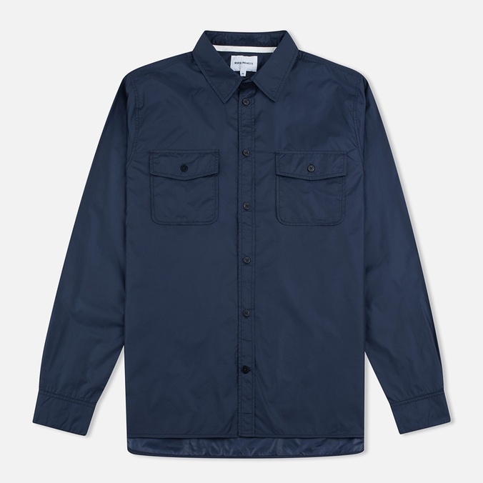 Norse Projects Hans Light Ripstop Men's Shirt Navy