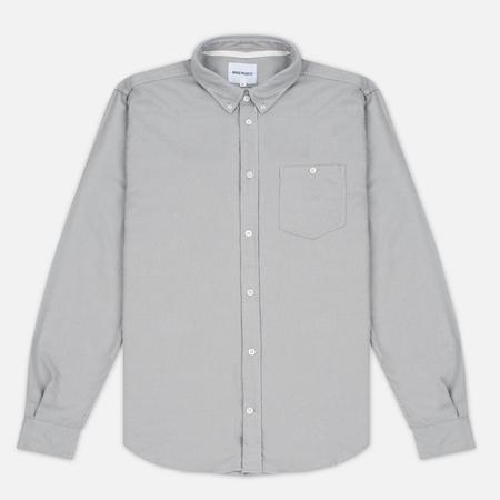 Мужская рубашка Norse Projects Osvald Brushed Light Grey Melange