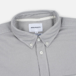 Мужская рубашка Norse Projects Osvald Brushed Light Grey Melange фото- 1