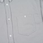 Мужская рубашка Norse Projects Osvald Brushed Light Grey Melange фото- 2