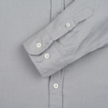 Мужская рубашка Norse Projects Osvald Brushed Light Grey Melange фото- 3