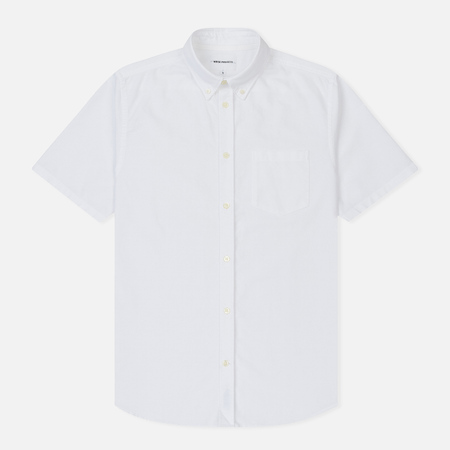 Мужская рубашка Norse Projects Theo Oxford SS White