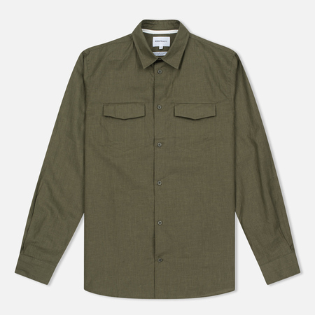 Мужская рубашка Norse Projects Villads Dry Texture Capital Green