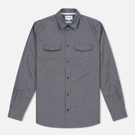 Мужская рубашка Norse Projects Villads Dry Texture Grey Melange