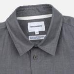Мужская рубашка Norse Projects Villads Dry Texture Grey Melange фото- 1