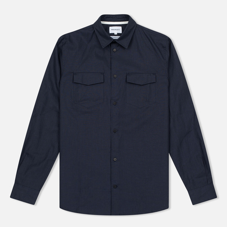 Мужская рубашка Norse Projects Villads Dry Texture Navy