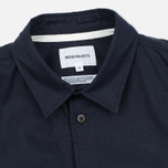 Мужская рубашка Norse Projects Villads Dry Texture Navy фото- 1