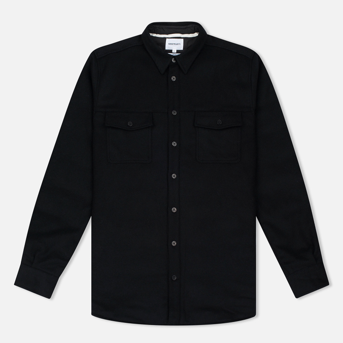 Мужская рубашка Norse Projects Villads Melton Black