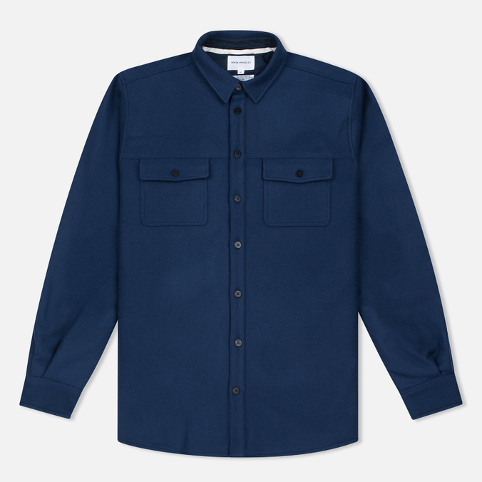 Мужская рубашка Norse Projects Villads Melton Navy