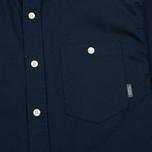Мужская рубашка Peaceful Hooligan Yates Navy фото- 2