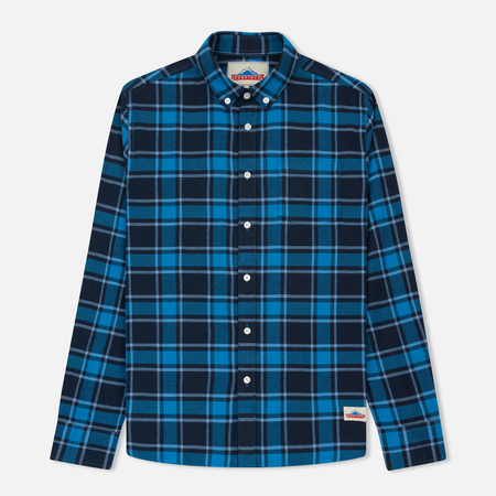 Мужская рубашка Penfield Ravens Brushed Cotton Checked Blue
