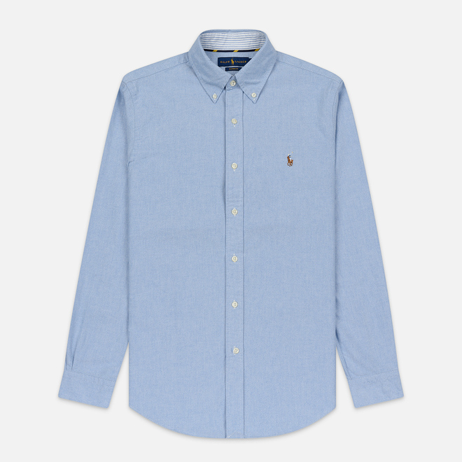 Мужская рубашка Polo Ralph Lauren Button Down Oxford Blue