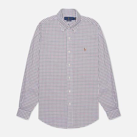 Мужская рубашка Polo Ralph Lauren Button Down Oxford Gingham White/Berry
