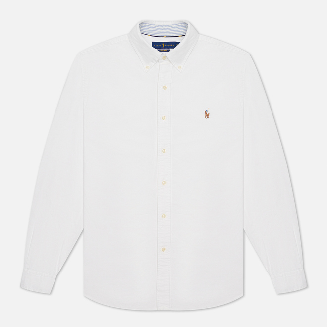 Мужская рубашка Polo Ralph Lauren Button Down Oxford White