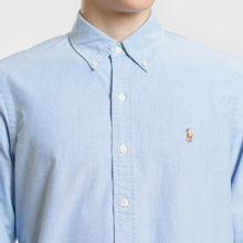 Мужская рубашка Polo Ralph Lauren Classic Fit Oxford Blue фото- 2