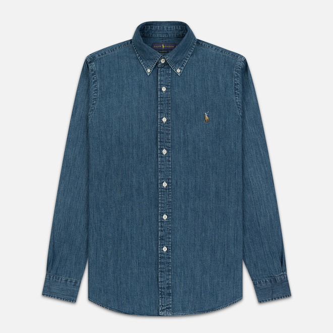 Мужская рубашка Polo Ralph Lauren Classic Fit Oxford Denim