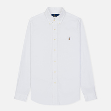 Мужская рубашка Polo Ralph Lauren Classic Fit Oxford White фото- 0