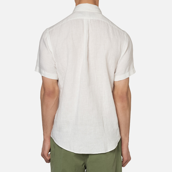 Мужская рубашка Polo Ralph Lauren Classic Fit Piece Dye Linen White
