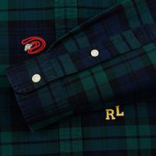 Мужская рубашка Polo Ralph Lauren Classic Fit Plaid Oxford Pine/Navy Multi фото- 3