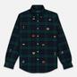 Мужская рубашка Polo Ralph Lauren Classic Fit Plaid Oxford Pine/Navy Multi фото - 0