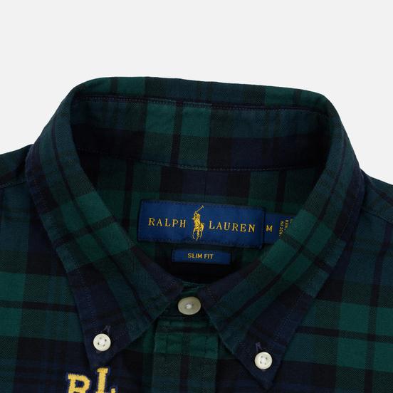Мужская рубашка Polo Ralph Lauren Classic Fit Plaid Oxford Pine/Navy Multi