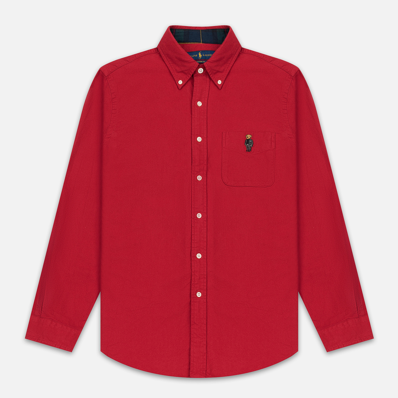 Мужская рубашка Polo Ralph Lauren Custom Fit Bear Brushed Oxford Sport Red