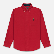Мужская рубашка Polo Ralph Lauren Custom Fit Bear Brushed Oxford Sport Red фото- 0