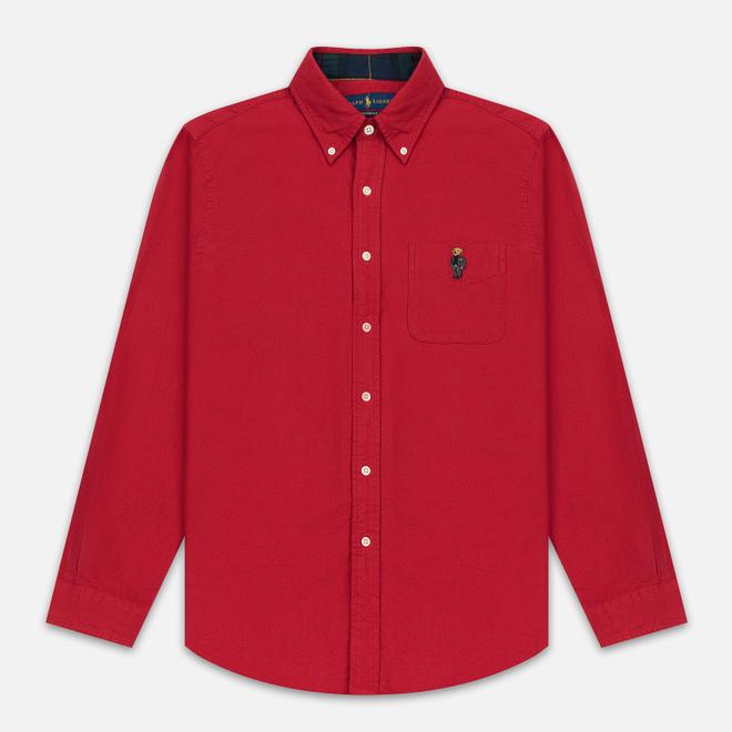 Мужская рубашка Polo Ralph Lauren Custom Fit Bear Brushed Oxford Sport Red