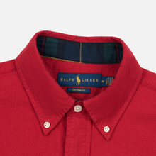 Мужская рубашка Polo Ralph Lauren Custom Fit Bear Brushed Oxford Sport Red фото- 1