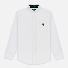 Мужская рубашка Polo Ralph Lauren Custom Fit Bear Brushed Oxford White фото- 0