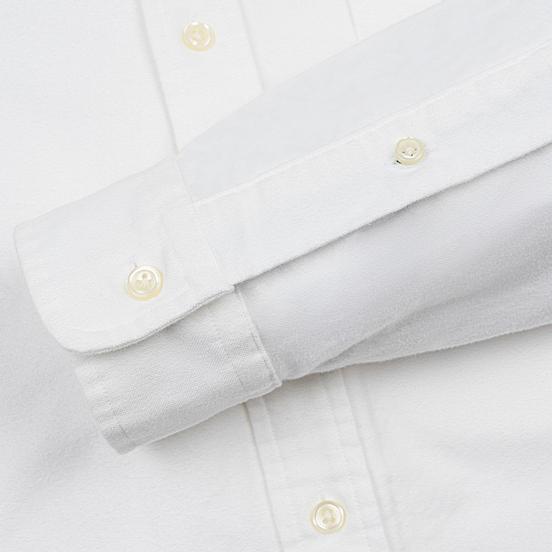 Мужская рубашка Polo Ralph Lauren Custom Fit Bear Brushed Oxford White