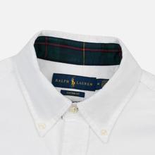 Мужская рубашка Polo Ralph Lauren Custom Fit Bear Brushed Oxford White фото- 1