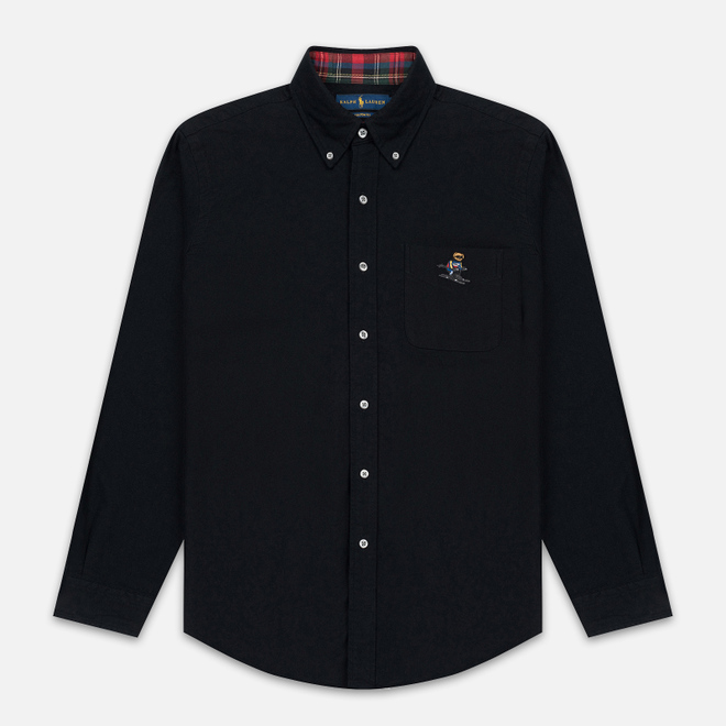 Мужская рубашка Polo Ralph Lauren Custom Fit Bear Ski Brushed Oxford Black