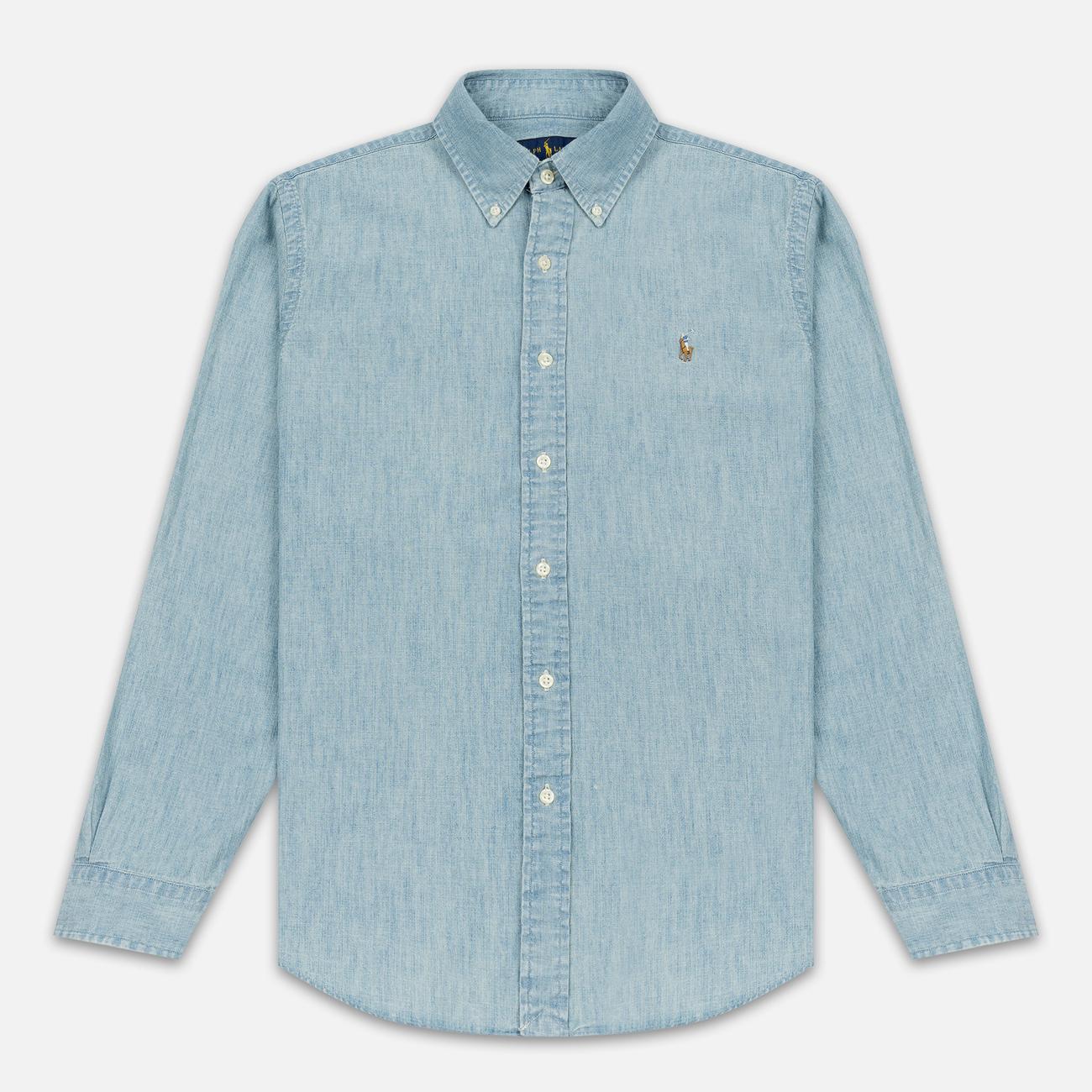 Мужская рубашка Polo Ralph Lauren Custom Fit Polo Pony Color Chambray
