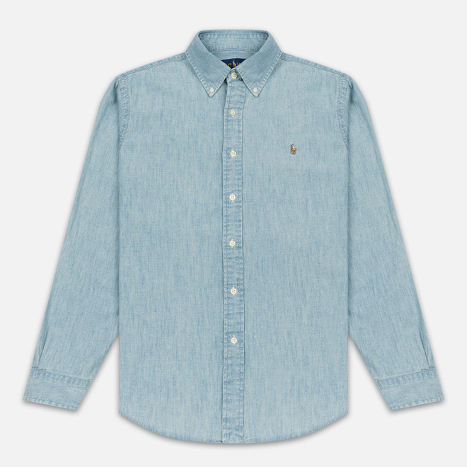 Мужская рубашка Polo Ralph Lauren Custom Fit Polo Pony Color Chambray