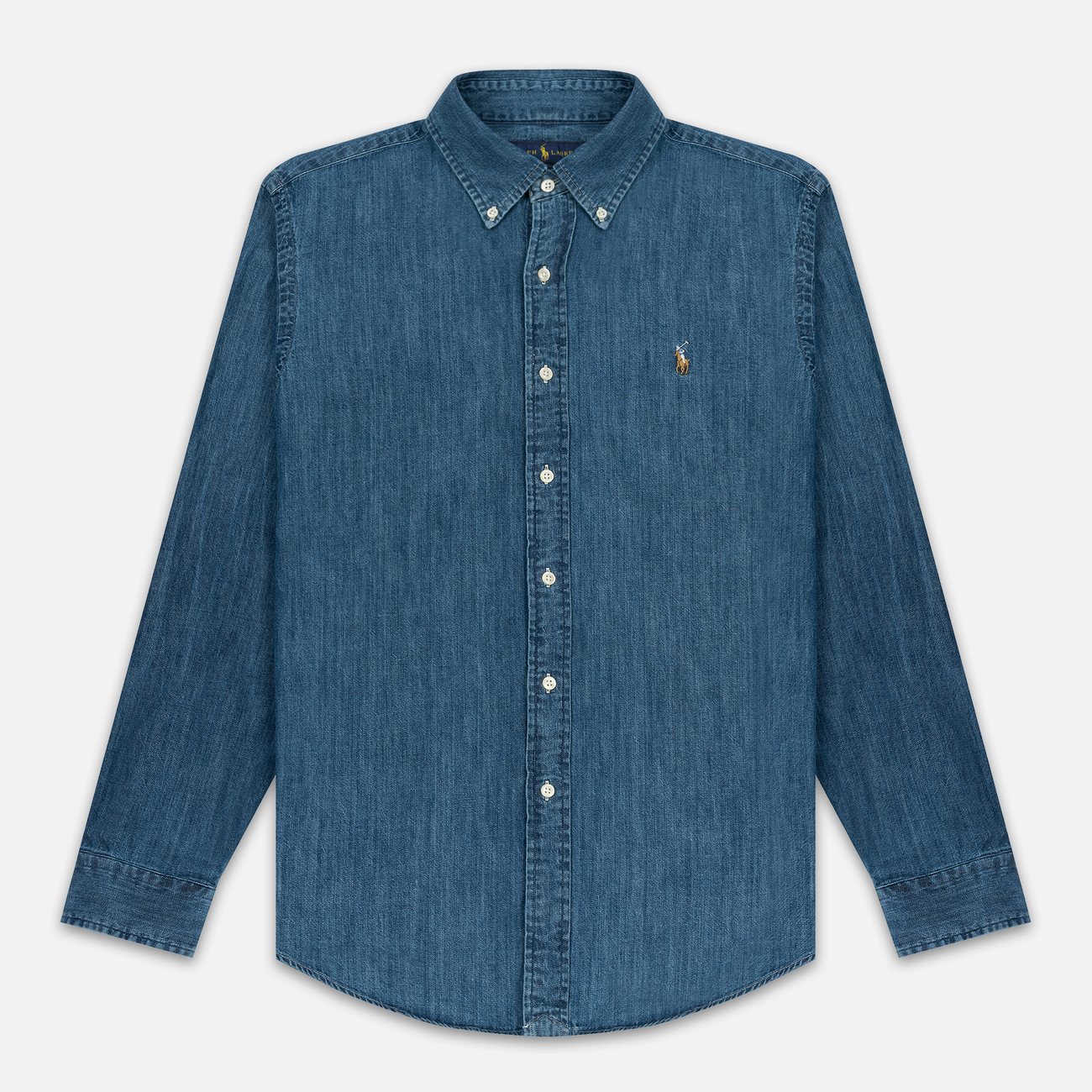 Мужская рубашка Polo Ralph Lauren Custom Fit Polo Pony Color Denim